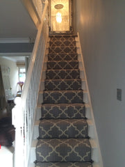 Axminster Carpets Royal Borough Collection Trellis Windsor Mid Steel Grey Stair Runner