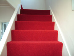 Brintons Carpets Bell Twist Manhattan Red Fully Fitted Stair Carpet & Hall Runner