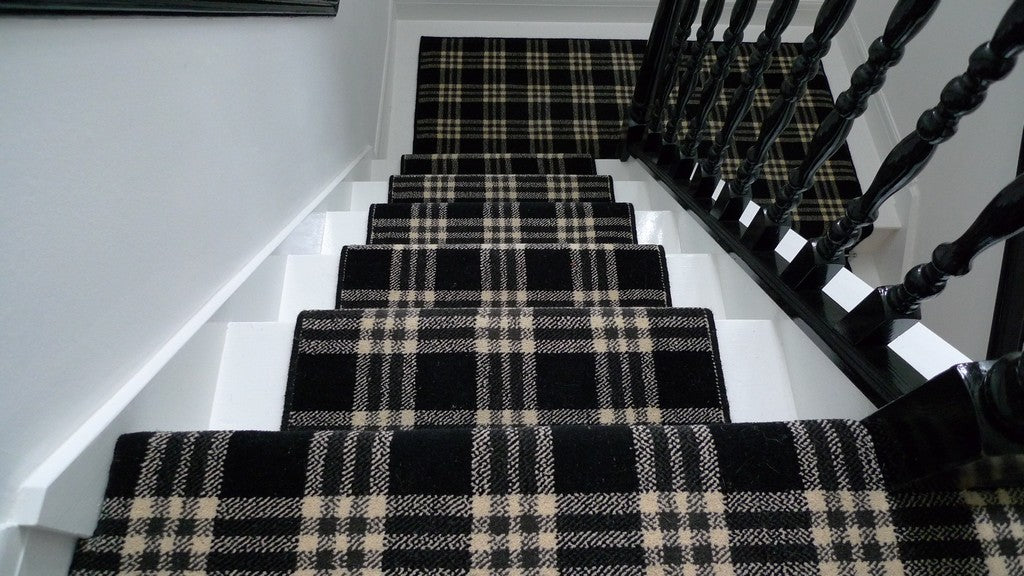 Tartan carpets for stairs and landing carpet review for Black wall to wall carpet