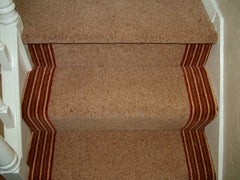 Brintons Carpets Bell Twist Caramel & Stripes Collection Raspberry Ruffles Fully Fitted Carpet