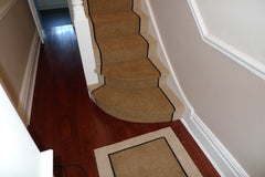 BRINTONS CARPETS COFFEE BARLEY & EBONY FULLY FITTED STAIR CARPET