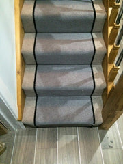 Brintons Carpets Bell Twist Flint Ebony & Pewter Fully Fitted Stair Carpets