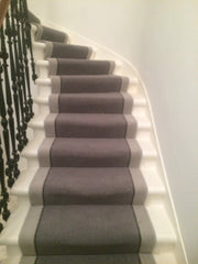 Brintons Carpets Bell Twist Flint Smoke & Pumice Stair Runner