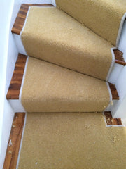 Brintons Carpets Bell Twist Luxor Gold with Ghost Whipping Stair Runner