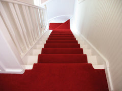 Brintons Carpets Bell Twist Manhattan Red Stair Runner