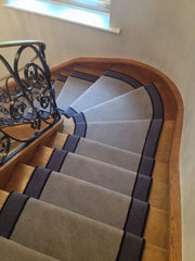 Brintons Carpets Bell Twist Pumice Ebony & Twilight Stair Runner
