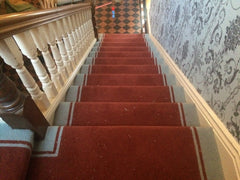 Brintons Carpets Bell Twist Salsa & Powder Blue Fully Fitted Stair Carpet