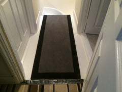 Brintons Carpets Bell Twist Smoke & Ebony Border and with an Ebony Stripe
