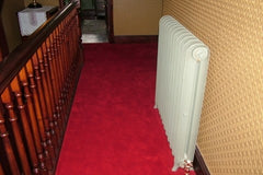 Brintons Carpets Finepoint Rothko Red Stair Runner and Fitted Landing Carpet