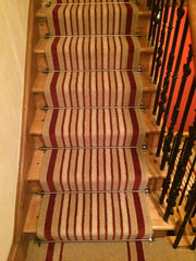 Brintons Carpets Laura Ashley Raspberry Lovage & Bell Twist Kalahari Desert Stair Runner