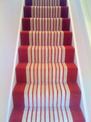 Brintons Carpets Laura Ashley Raspberry Lovage & Bell Twist Ruby Border Fully Fitted Stair Carpet
