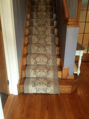 Brintons Carpets Laura Ashley Tatton Truffle & Bell Twist Pewter Stair Runner