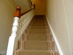 Brintons Carpets Majestic Teak & Stripes Collection Rhubarb Custard Fitted Stair Carpet