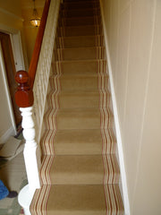 Brintons Carpets Majestic Teak & Stripes Collection Raspberry Ruffles Fitted Stair Carpet