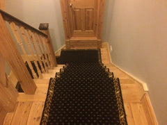 Brintons Carpets Marquis Intense Black Stair Runner