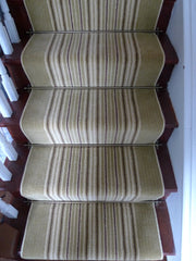 Brintons Carpets Stripes Collection Sherbet Limes & Gainsborough Strand Stair Runner