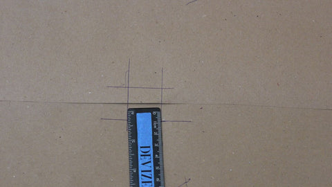 Using a ruler to make a hash (#) sign