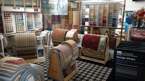 Our carpet showroom in Leeds