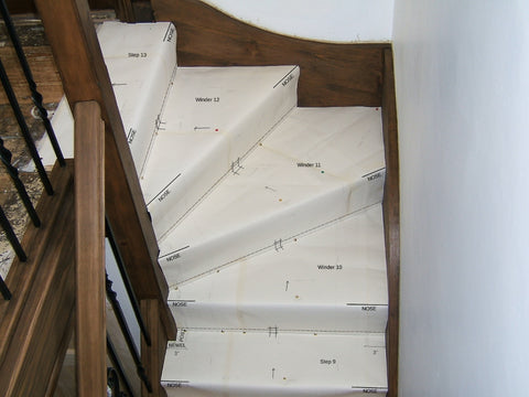 Aerial view of the winders from over the banister