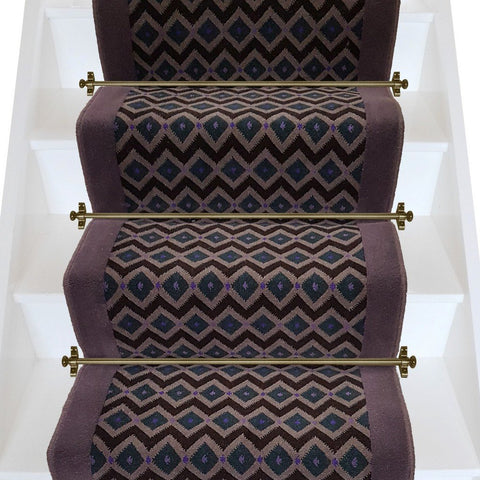 Axminster Carpets Funky Geometric & Brintons Gorgeous Plum Stair Runner