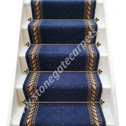 Stoddards Carpets Blue Rope Pindot Stair Runner (per M)