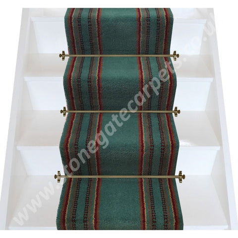 Axminster Carpets 18 Wide Jade & Ruby Stair Runner