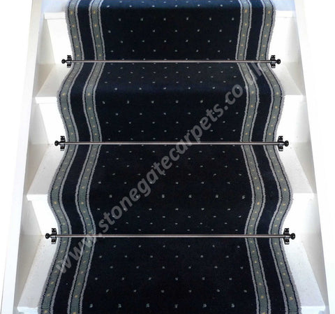Axminster Carpets 27 Inch Crown Point Empire Black Stair Runner