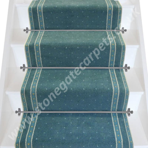 Axminster Carpets 27 Inch Crown Point Empire Blue Stair Runner (Per M)