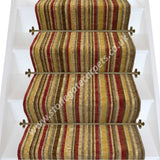Axminster Carpets Antique Gold Stripe Stair Runner (per M)