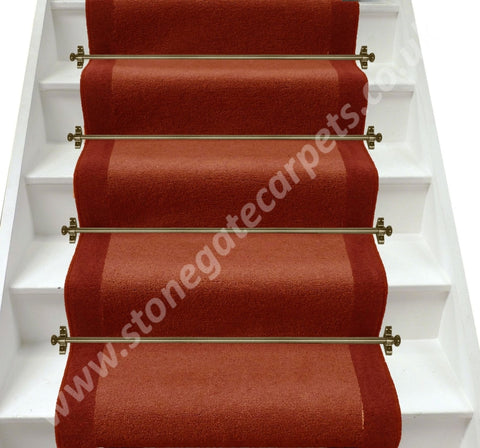 Axminster Carpets Devonia Plain Clay Pot & Autumn Fall Stair Runner (Per M)
