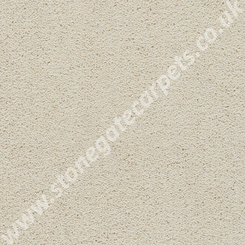 Axminster Carpets Devonia Plain Cream Tea Carpet Remnant