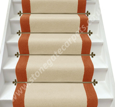 Axminster Carpets Devonia Plain Cream Tea & Clay Pot Stair Runner (Per M)