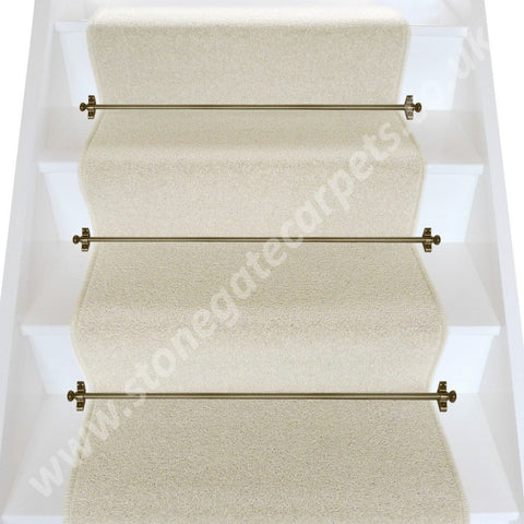 Axminster Carpets Devonia Plain Cream Tea Stair Runner (Per M)
