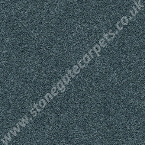 Axminster Carpets Devonia Plain Ocean Deep Carpet Remnant