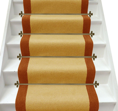 Axminster Carpets Devonia Plain Sunkissed & Autumn Fall Stair Runner (per M)