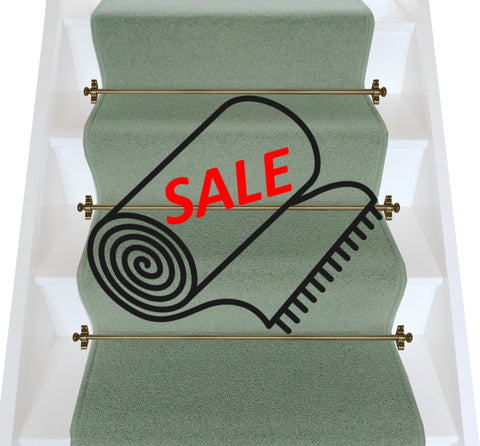 Axminster Carpets Devonia Plain Dreamboat (Spearmint) Stair Runner (per M)