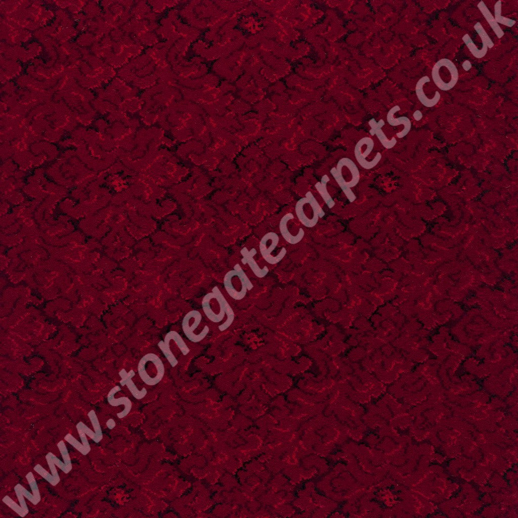 Axminster Carpets Exeter Concerto Tapestry Red Carpet 010 03154