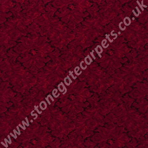 Axminster Carpets Exeter Concerto Tapestry Red Carpet 010/03154