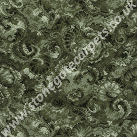Axminster Carpets Exeter Seashells Fern Green Carpet 113/03031