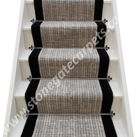 Axminster Carpets Hazy Days Annalise Rushley Nomad & True Velvet Jet  Stair Runner (per M)
