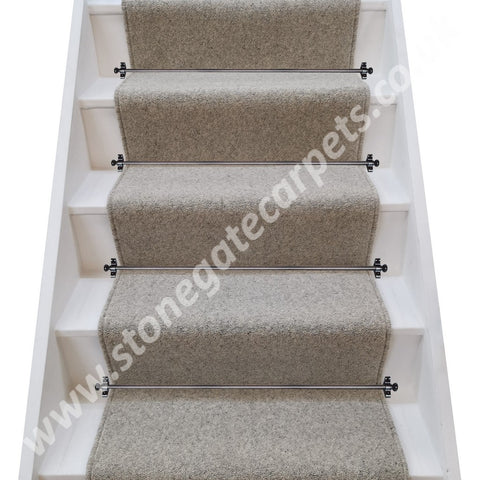 Axminster Carpets Jacobs Tweed Chalk Stair Runner (per M)