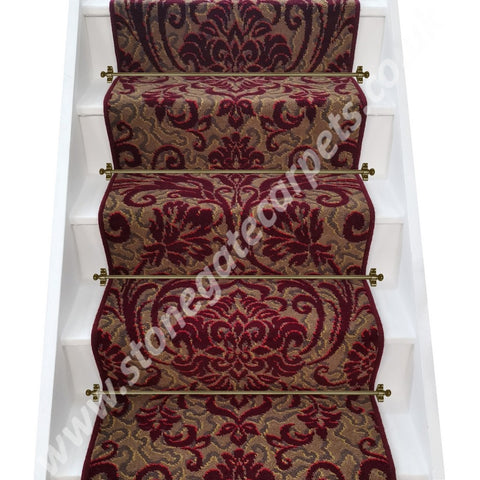 Axminster Carpets Medici Ruby Damask Stair Runner (per linear metre)