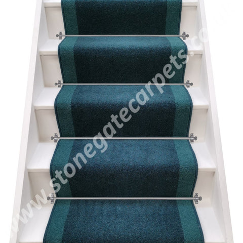 Axminster Carpets Moorland Twist Bowland & Devonia Plains Blue Grass Stair Runner (per M)