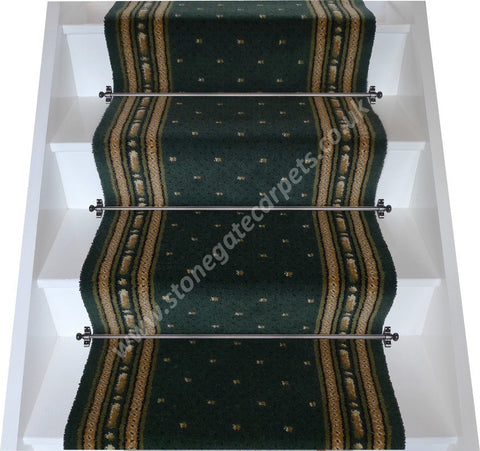 Axminster Carpets Olive Green Starburst Stair Runner (per M)