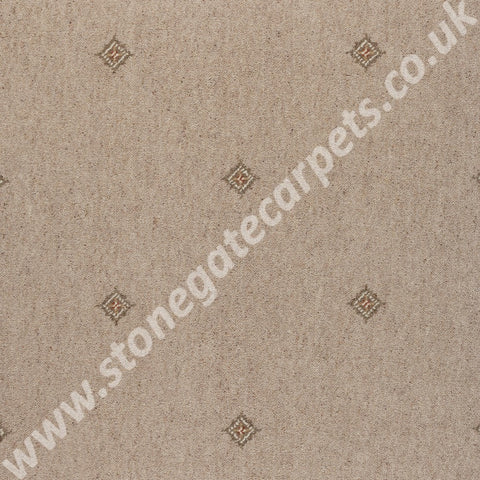 Axminster Carpets Princetown Crest Cornish Cream Carpet 258/14012