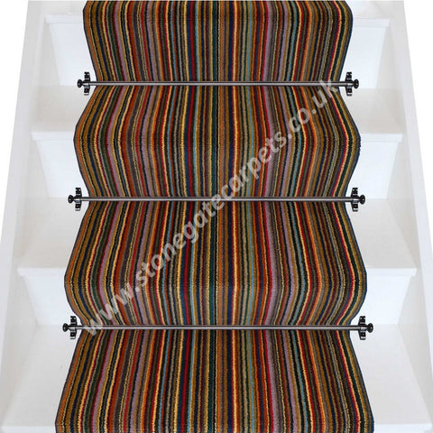 Axminster Carpets Rectory Red Stripe Stair Runner (per M)