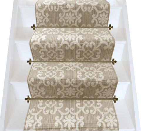 Axminster Carpets Royal Borough Decorative Chelsea Glade Beige Stair Runner (per M) - VERY LOW STOCK