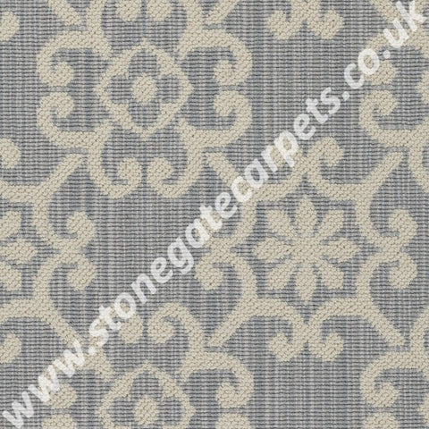 Axminster Carpets Royal Borough Decorative Chelsea Itschner Light Grey Carpet 1220/W0624