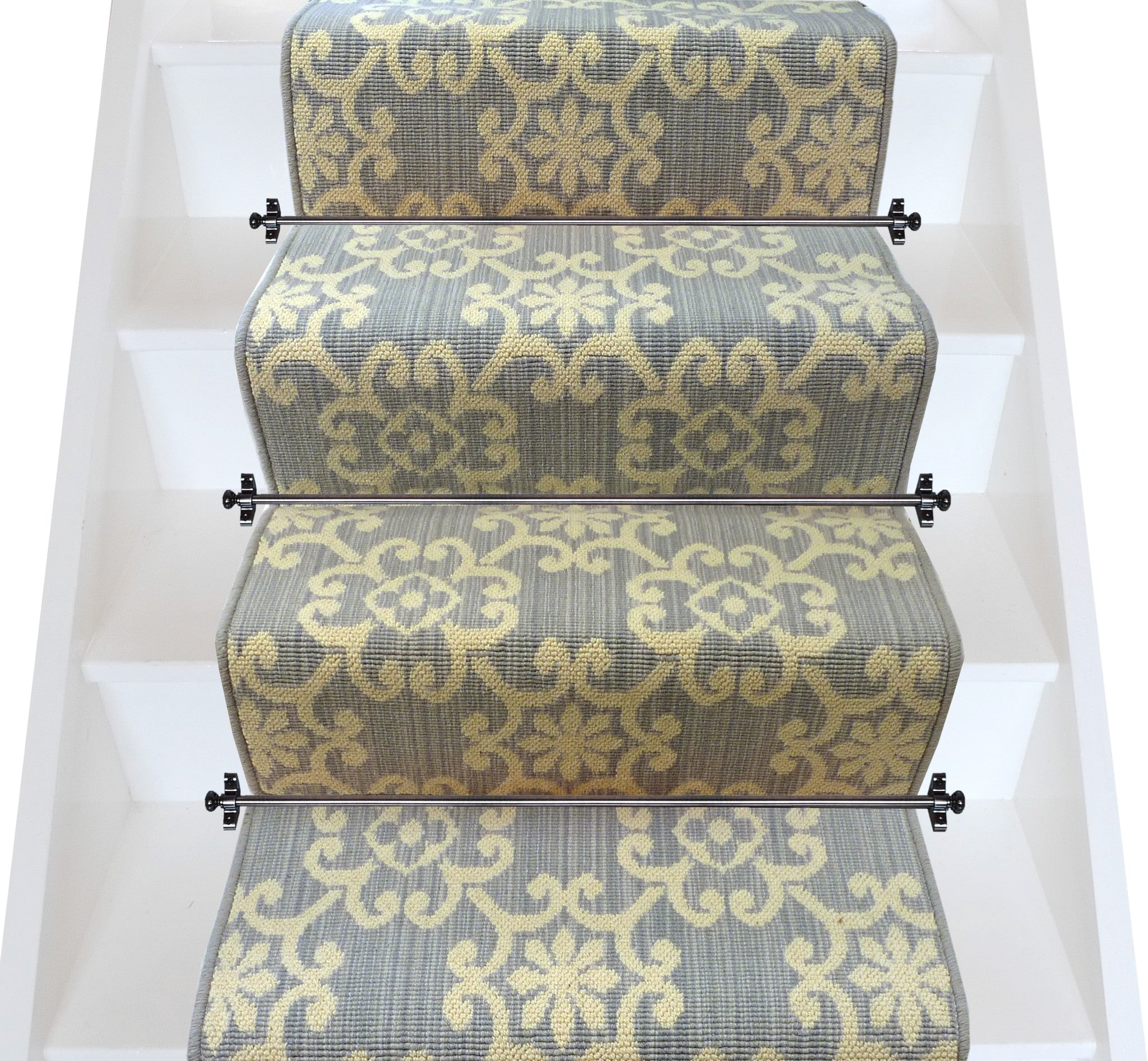 Axminster Carpets Royal Borough Decorative Chelsea Steel Mid Grey Stair  Runner (per M)
