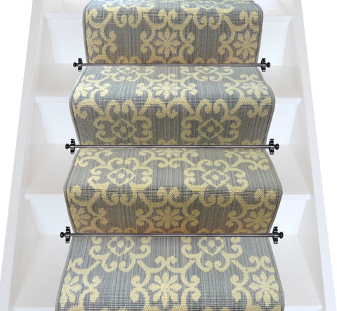 Axminster Carpets Royal Borough Decorative Chelsea Steel Mid Grey Stair Runner (per M) - VERY LOW STOCK